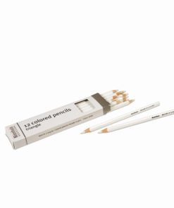 Crayons triangulaires pour inserts Métalliques : blanc - Nienhuis Montessori