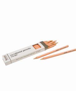 Crayons triangulaires pour inserts Métalliques : pêche - Nienhuis Montessori