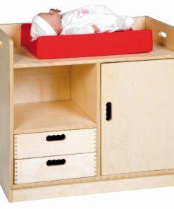 Table à langer / armoire en bois - Educo