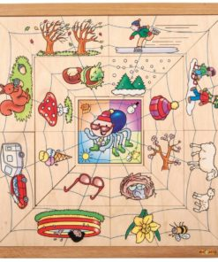 Spider sorting puzzle - the four seasons - Educo