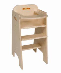 Chaise haute de poupée en bois - Educo