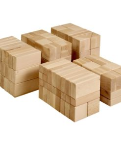 Large wooden building blocks (156 blocks) - Educo