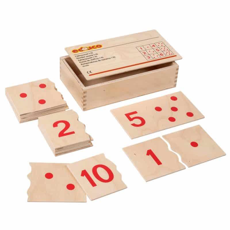 Number puzzle 1-10 - Educo