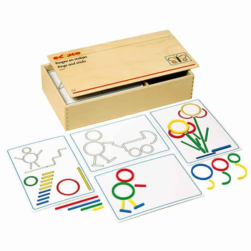 Rings & sticks extra shapes - Educo