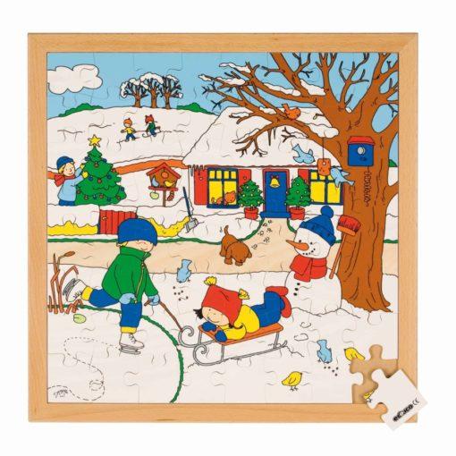 Puzzle les 4 saisons: l'hiver - Educo