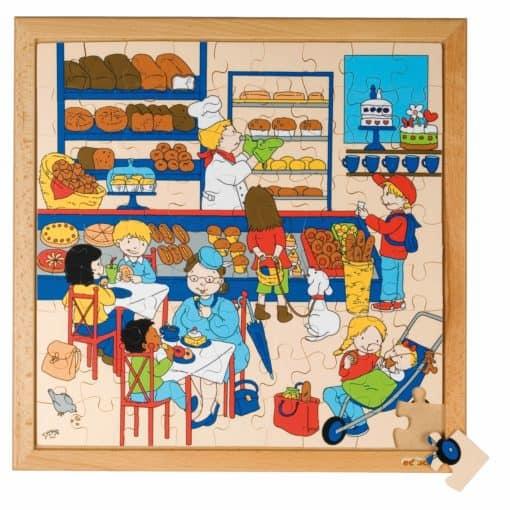Puzzle vie quotidien/des commerces: le boulangerie - Educo