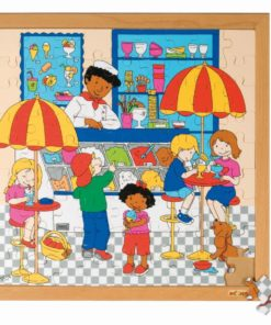 Shopping puzzle - ice cream parlour - Educo
