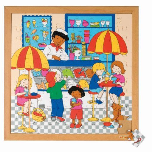 Puzzle vie quotidien/des commerces: le salon de glaces - Educo