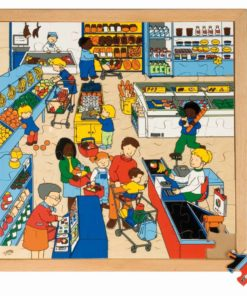 Shopping puzzle - supermarket - Educo