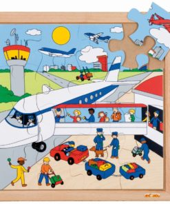 Transport puzzle - airport - Educo