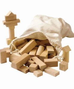 Wooden building blocks blank - Educo