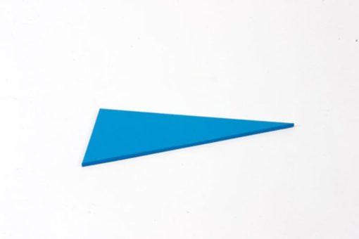 Pièce détachée: triangle scalène à angle droit bleu - Nienhuis Montessori