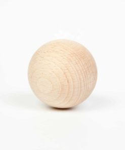 6 balles en bois naturel - Grapat