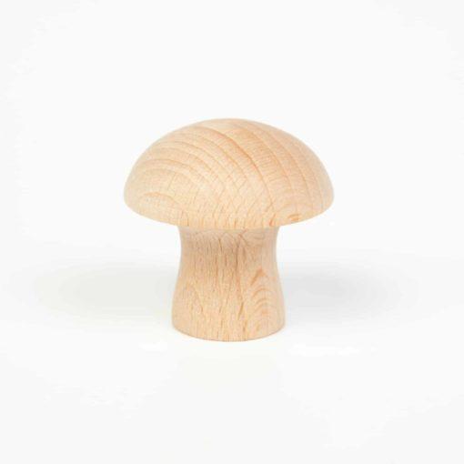 6 champignons en bois naturel - Grapat