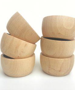 6 bols en bois naturel - Grapat