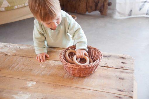 3 petits anneaux en bois - Grapat