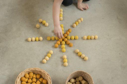 Mandala yellow honeycombs - Grapat