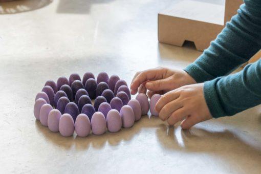 Mandala oeufs violets - Grapat