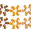 Mandala brown mushrooms - Grapat
