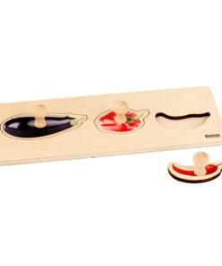 Toddler Puzzle: 3 Vegetables - Nienhuis Montessori