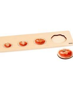 Toddler Puzzle: 4 Tomatoes - Nienhuis Montessori