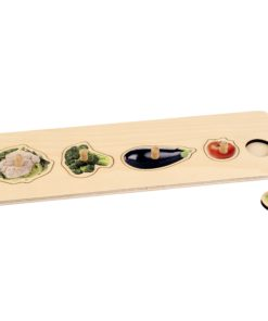 Toddler Puzzle: 5 Vegetables - Nienhuis Montessori
