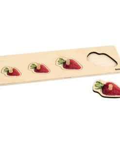 Toddler Puzzle: 4 Strawberries - Nienhuis Montessori