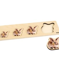 Toddler Puzzle: 4 Rabbits - Nienhuis Montessori