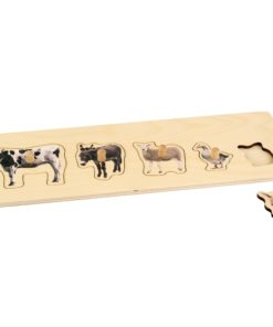 Toddler Puzzle: 5 Farm Animals - Nienhuis Montessori