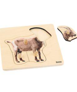 Toddler Puzzle: Goat - Nienhuis Montessori