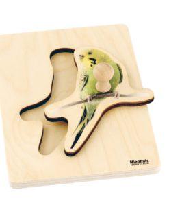 Toddler Puzzle: Parakeet - Nienhuis Montessori