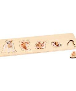 Toddler Puzzle: 5 Pets - Nienhuis Montessori