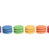 18 rainbow coins (6 colours) loose parts set / Handmade sustainable wooden toys Grapat