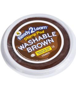 Jumbo washable paint/ink stamp pad: brown – Arts & Crafts