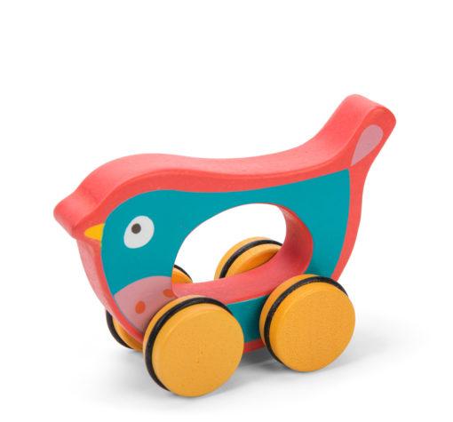 Jouet à pousser en bois oiseau / Jouet en bois durable - Le Toy Van Petilou