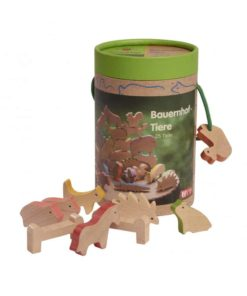 Handmade wooden toy animals Farm animals wood - Glückskäfer