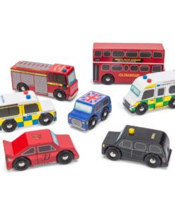 Sustainable wooden toy cars London Car Set - Le Toy Van