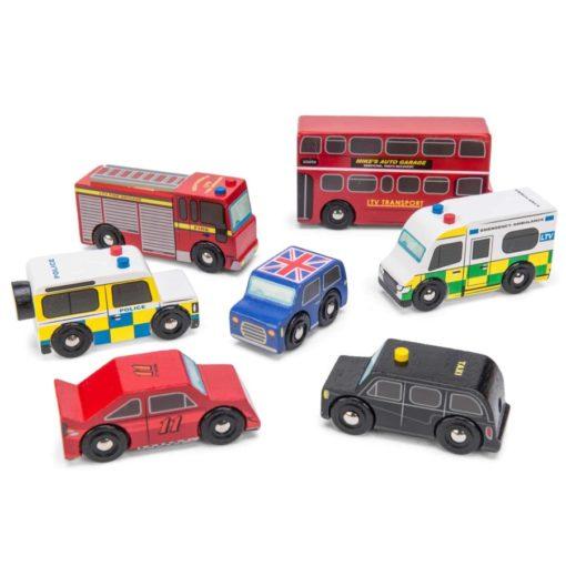 Les véhicules de Londres/ Véhicules et voitures-jouets en bois durable - Le Toy Van