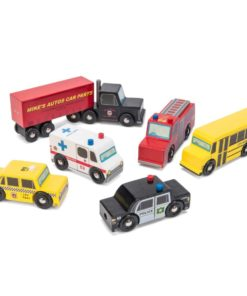 sustainable wooden toy cars New York Car Set - Le Toy Van