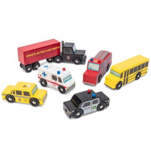Les véhicules de New York / Véhicules et voitures-jouets en bois durable - Le Toy Van
