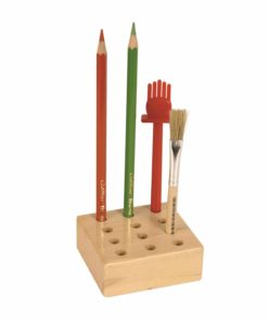 Wooden storage block: pencils and glue brushes - Arts & Crafts