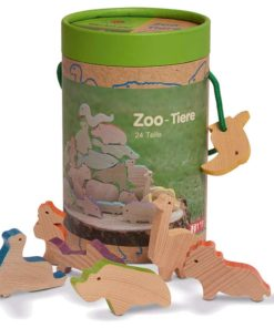 Handmade wooden toy animals Zoo and aquarium animals wood - Glückskäfer