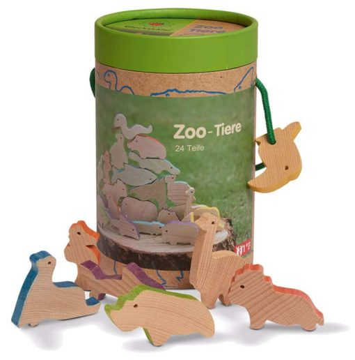 Handmade wooden toy animals Zoo and aquarium animals wood - Glückskäfer