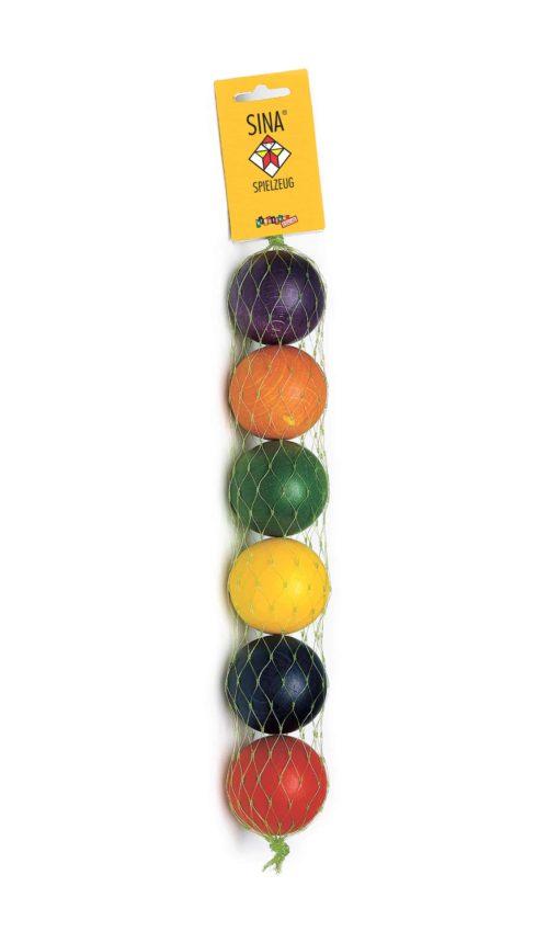 Big Wooden Rainbow Balls - SINA Spielzeug