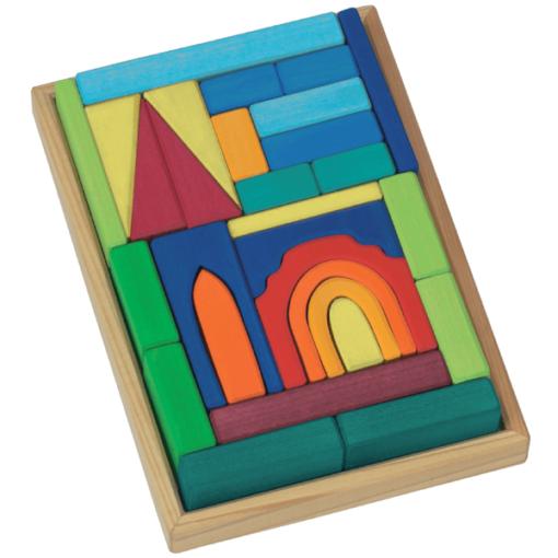 Handmade wooden blocks Church building blocks set - Glückskäfer