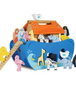 Sustainable wooden shape sorter baby development toy Noah's Ark Shape Sorter Le Toy Van