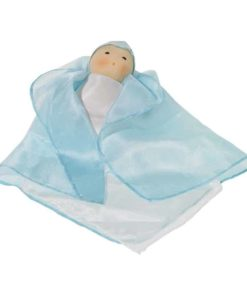 Silk Doll - Blue - Nanchen Natur Puppen - Teia Education Switzerland