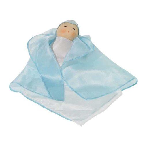 Silk Doll - Blue - Nanchen Natur Puppen - Teia Education Switzerland