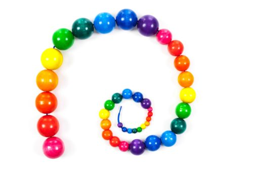 Wooden threading beads - SINA Spielzeug Teia Education