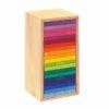 Handmade wooden blocks Rainbow building slats tower - Glückskäfer
